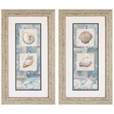 "Set of 2 By the Sea I/II 28"" High Wall Art"
