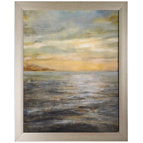 "Serene Sea II 32"" High Seascape Wall Art"