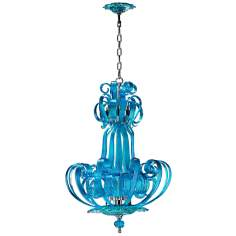 Florence Aqua Glass Pendant Light