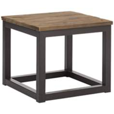 Zuo Civic Center Distressed Wood Side Table