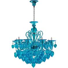 Bella Aqua Chianti Glass Chandelier