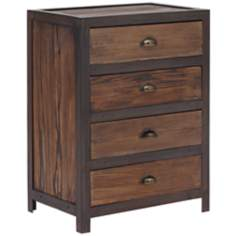 Zuo Fort Mason Distressed Wood 4-Drawer Cabinet