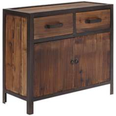 Zuo Fort Mason Distressed Wood Side Cabinet