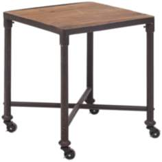Zuo Mission Bay Distressed Wood Side Table