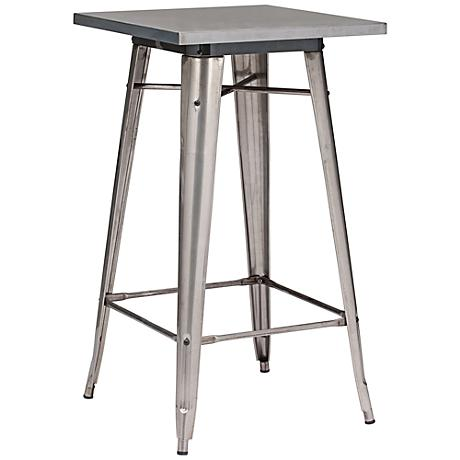Zuo Olympia Gunmetal Bar Table