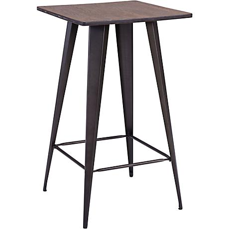 Zuo Titus Rusty Elm Bar Table