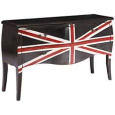 Zuo Union Jack Large Distressed Black Cabinet