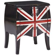 Zuo Union Jack Small Distressed Black Cabinet