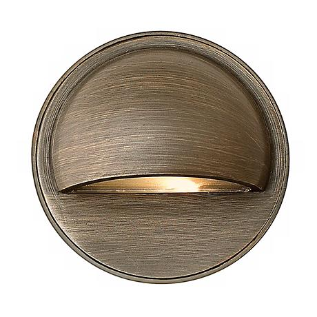 Hardy Island Matte Bronze Halogen Step or Deck Light