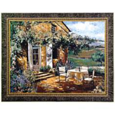 "Vineyard Villa 53"" Wide Wall Tapestry"