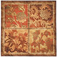 "Botanical Scroll 44"" Square Wall Tapestry"