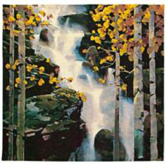 "Waterfall 53"" Square Wall Tapestry"