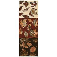 "Autumn Leaves I 51"" High Wall Tapestry"