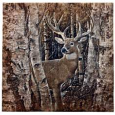 "Birchwood Buck 52"" High Wall Tapestry"