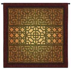 "Eastern Lattice 53"" Square Wall Tapestry"