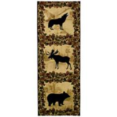 "Lodge Silhouette 64"" High Wall Tapestry"