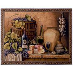 "Wine Tasting 53"" Wide Wall Tapestry"
