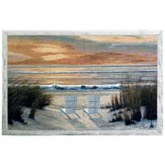 "Paradise Sunset 53"" Wide Wall Tapestry"