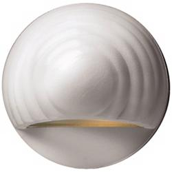 Hinkley Matte White Round Eyebrow 12 Volt LED Deck Light