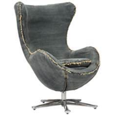 Zuo Winchester Blue Denim Armchair