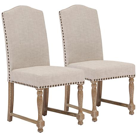 Set of 2 Zuo Richmond Beige Chairs