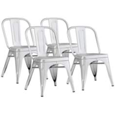Zuo Token Set of 4 Lightweight Aluminum Chairs