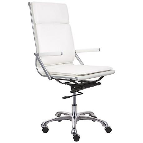 Zuo Lider Plus White High Back Office Chair