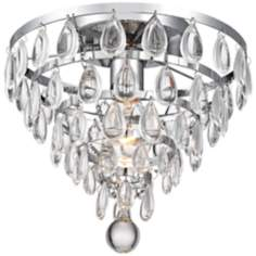 "Supresa Crystal 11"" Wide Chrome Ceiling Light"