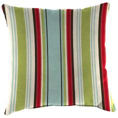 "Kiwi Red Blue 14"" Various Edge Outdoor Accent Pillow"