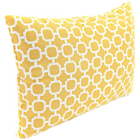 "Yellow and Cream 18"" Various Edge Outdoor Accent Pillow"