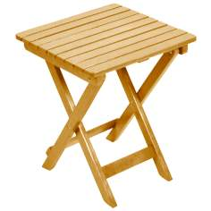 Natural Folding Adirondack Side Table
