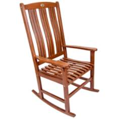 Natural Outdoor Solid Hardwood Rocker