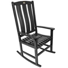 Black Outdoor Solid Hardwood Rocker