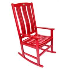 Red Outdoor Solid Hardwood Rocker