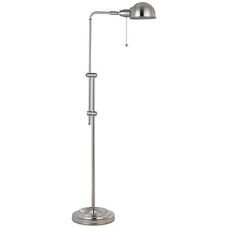 Tamber Brushed Steel Adjustable Pharmacy Floor Lamp