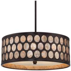 "Quoizel Ariella 4-Light 18"" Wide Bronze Pendant Light"