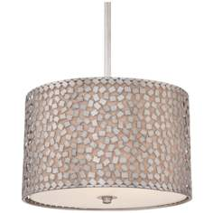 "Quoizel Confetti 3-Light 16"" Wide Silver Pendant Light"