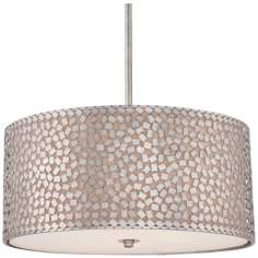 "Quoizel Confetti 4-Light 22"" Wide Silver Pendant Light"