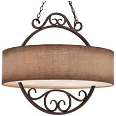 "Quoizel Carlsbad 4-Light 20"" Wide Bronze Pendant Light"