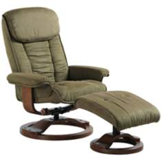 Euro Design Sage Swivel Recliner with Ottoman