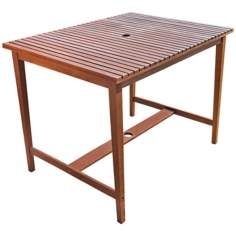 Ridge Outdoor Hardwood Bar Table