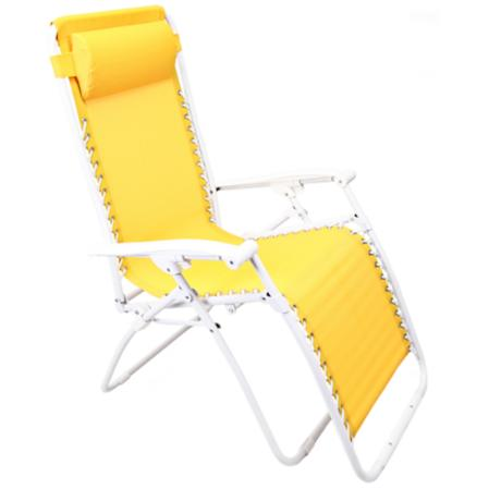 Zero gravity yellow outdoor chaise lounge 2f625 www for Chaise zero gravite