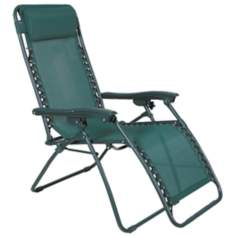 Zero Gravity Tannen Green Outdoor Chaise Lounge