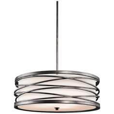 "Kichler Krasi 24"" Wide 4-Light Warm Bronze Pendant Light"