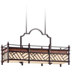 "Kichler Rum Cove 35 1/2"" Wide Bronze Island Chandelier"