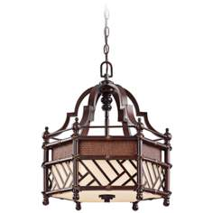 "Kichler Rum Cove 18 1/2"" Wide Bronze Pendant Light"
