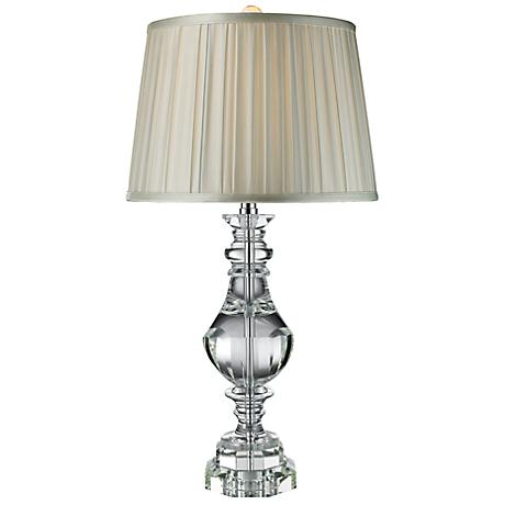 Donaldson Clear Crystal Finish Table Lamp