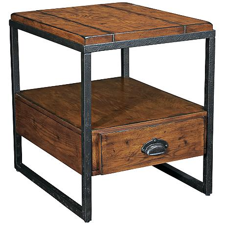 Hammary baja rectangular 1 drawer end table for 10 wide end table