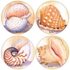 Hindostone Set of 4 Shells Coasters
