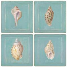 Hindostone Set of 4 Sea Shells Coasters